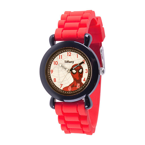 Marvel Spiderman Boys Red Strap Watch-Wma000394