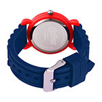 Marvel Captain America Boys Blue Strap Watch-Wma000395
