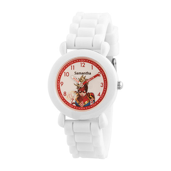 Marvel Marvel Boys White Strap Watch-Wma000397