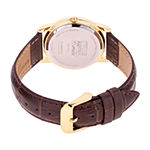 Marvel Marvel Mens Brown Leather Strap Watch-Wma000403