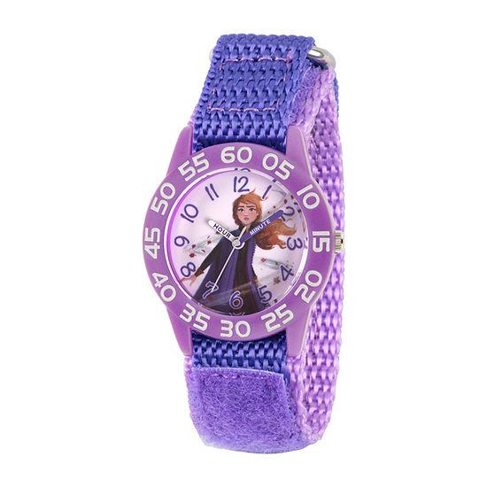 Disney Anna Girls Purple Strap Watch-Wds000779