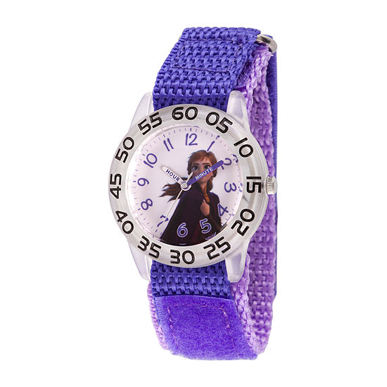 Disney Anna Girls Purple Strap Watch-Wds000782