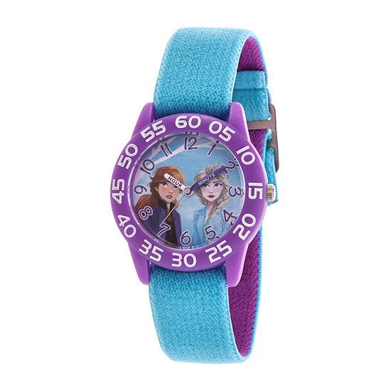 Disney Frozen Girls Blue Strap Watch-Wds000783