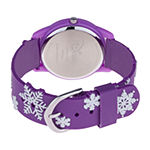 Disney Frozen Girls Purple Strap Watch-Wds000785