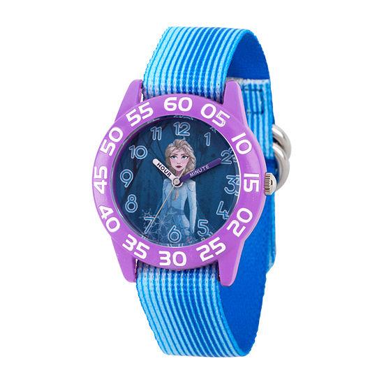 Disney Girls Blue Strap Watch-Wds000787