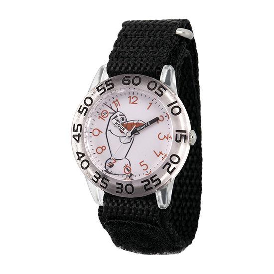 Olaf Boys Black Strap Watch-Wds000788