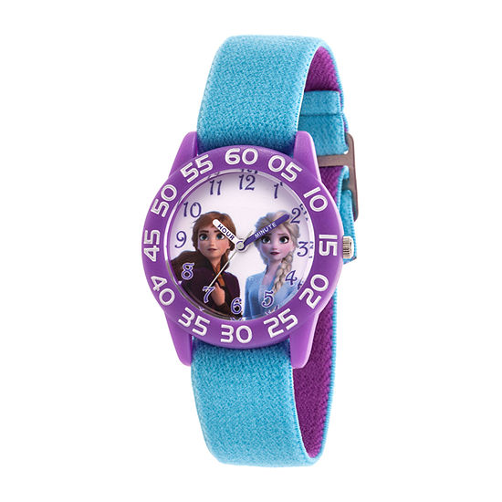 Disney Frozen Girls Blue Strap Watch-Wds000789