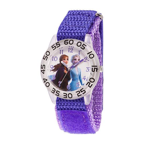 Disney Frozen Girls Purple Strap Watch-Wds000790