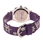 Disney Frozen Girls Purple Strap Watch-Wds000796