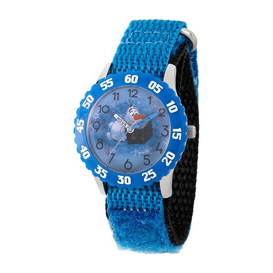 Olaf Boys Blue Strap Watch-Wds000801