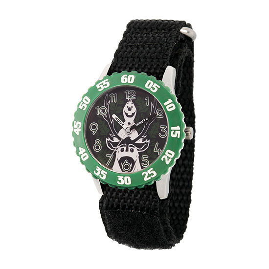 Disney Olaf Boys Black Strap Watch-Wds000802