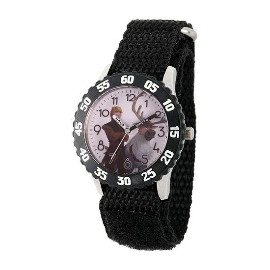 Disney Frozen Boys Black Strap Watch-Wds000803