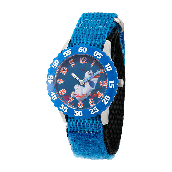 Disney Olaf Boys Blue Strap Watch-Wds000804