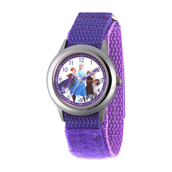 Disney Frozen Girls Purple Strap Watch-Wds000808
