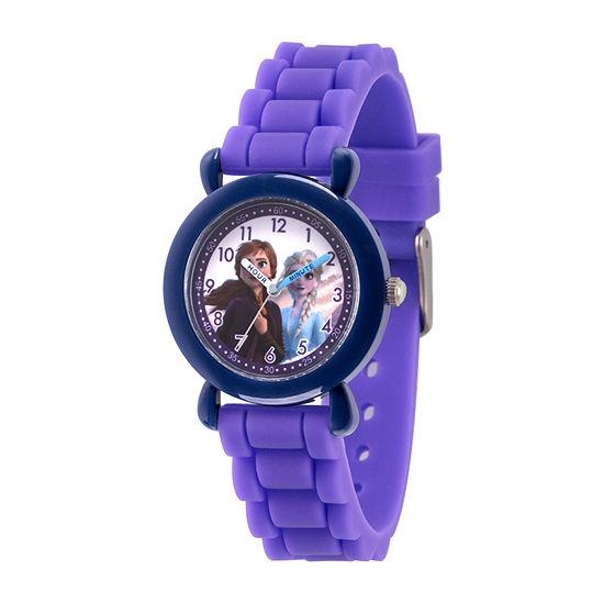Disney Frozen Girls Purple Strap Watch-Wds000810
