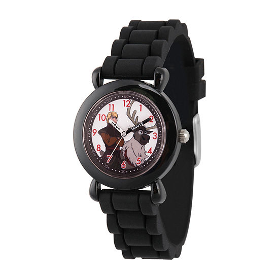 Disney Frozen Boys Black Strap Watch-Wds000812