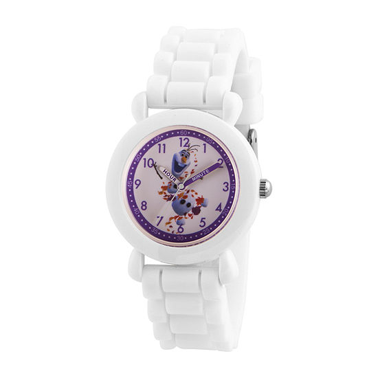 Disney Collection Olaf Boys White Strap Watch-Wds000813