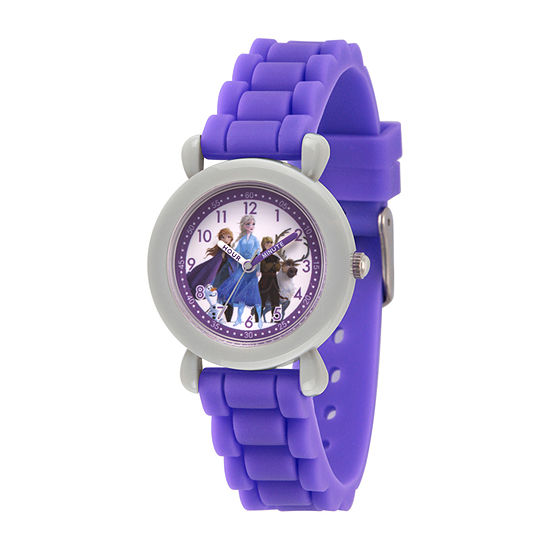 Disney Frozen Girls Purple Strap Watch-Wds000814