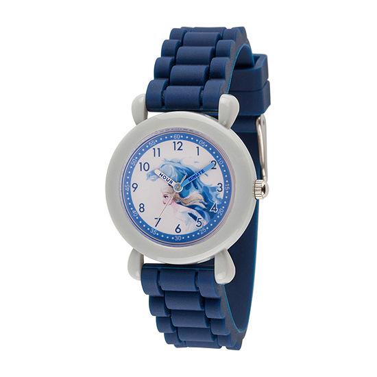 Disney Girls Blue Strap Watch-Wds000817