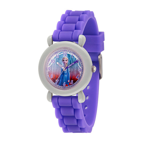 Disney Girls Purple Strap Watch-Wds000819
