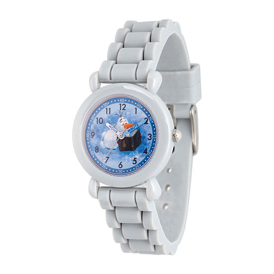 Olaf Boys Gray Strap Watch-Wds000820