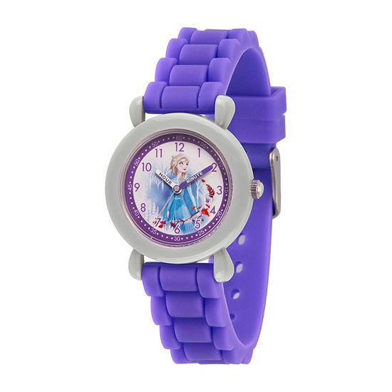 Disney Girls Purple Strap Watch-Wds000821