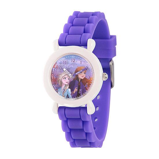 Disney Frozen Girls Purple Strap Watch-Wds000823