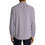 Perry Ellis Mens Long Sleeve Checked Button-Front Shirt Slim