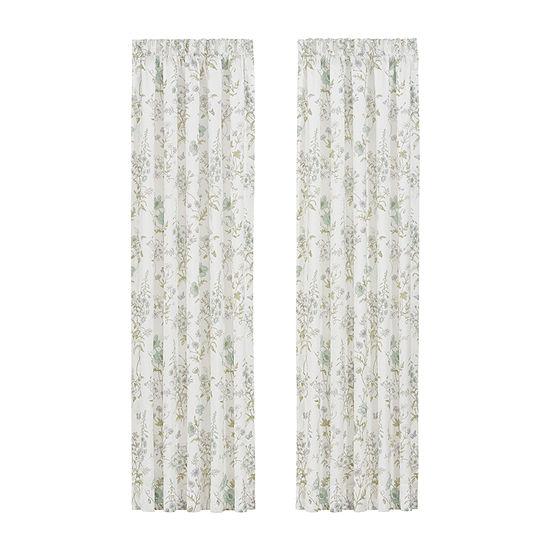 J. Queen New York™ Kate Light-Filtering Rod-Pocket Set of 2 Curtain Panels