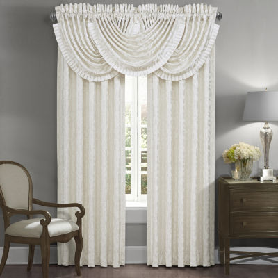 Queen Street Concordia Light-Filtering Rod-Pocket Set of 2 Curtain Panel