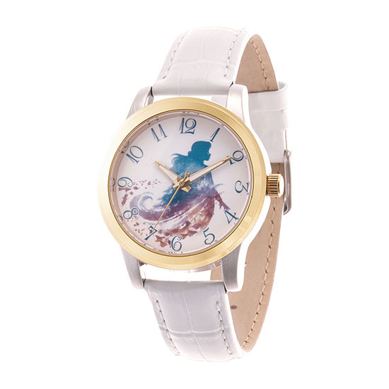 Anna Womens White Leather Strap Watch-Wds000832