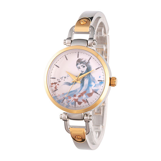 Disney Frozen Womens Two Tone Bracelet Watch-Wds000833