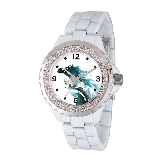 Disney Womens White Bracelet Watch-Wds000834