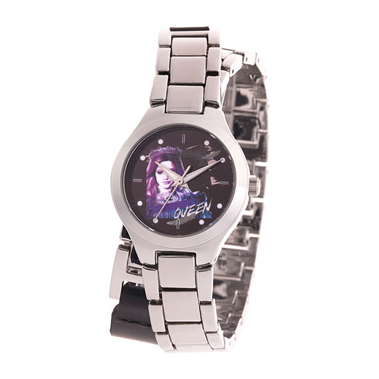 Disney Descendants Girls Silver Tone Bracelet Watch-Wds000772