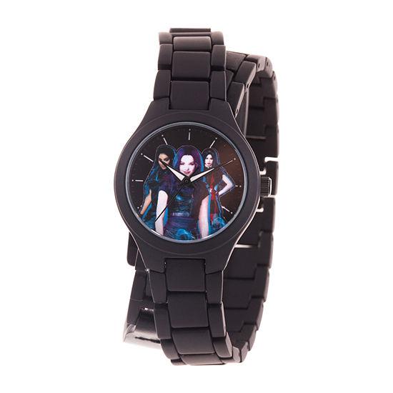 Disney Descendants Girls Black Bracelet Watch-Wds000774