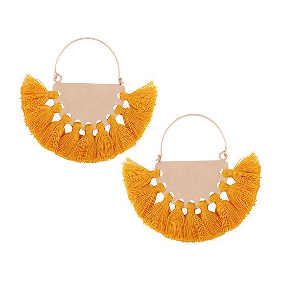 Arizona Yellow Fringe Drop Earrings