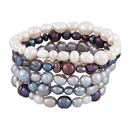 Honora Legacy Dyed Multi Color Cultured Freshwater Pearl Stretch Bracelet