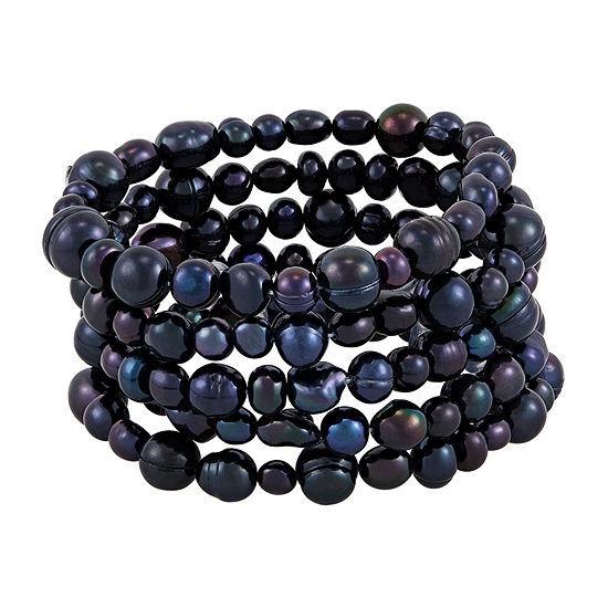 Honora Legacy Womens 5-pc. Black Bracelet Set