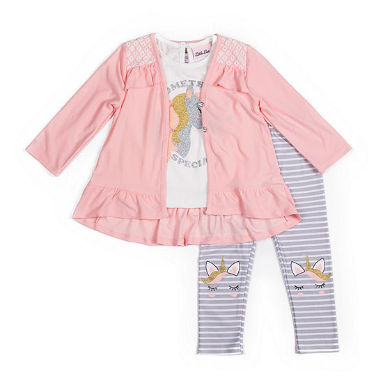 Little Lass Girls 3-pc. Legging Set-Baby