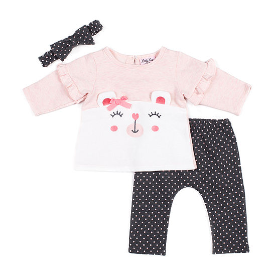 Little Lass Girls 2-pc. Pant Set Baby