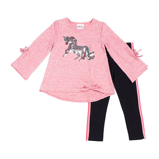 Little Lass Girls 2-pc. Legging Set-Baby