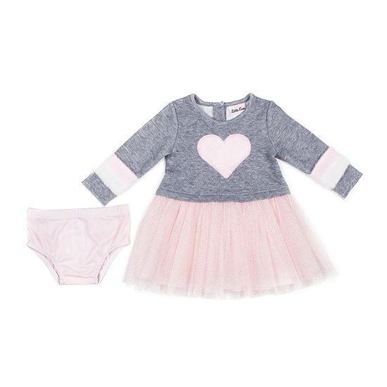 Little Lass Girls Long Sleeve Tutu Dress - Baby