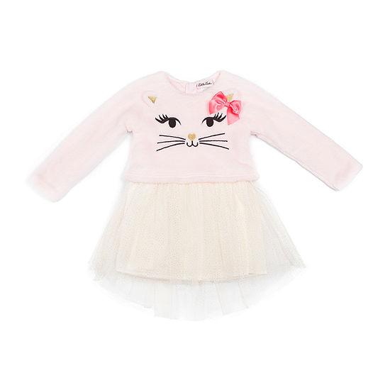 Little Lass 2-pc. Girls Long Sleeve A-Line Dress - Baby
