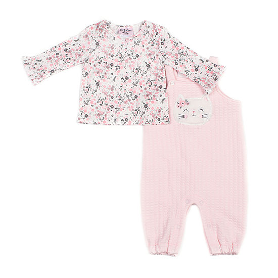 Little Lass Girls 2-pc. Overall Set-Baby
