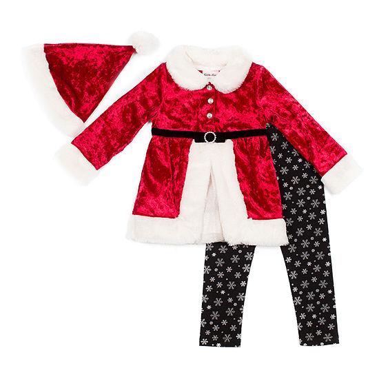 Little Lass Christmas Girls 3-pc. Legging Set-Baby