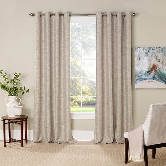 Eclipse Newport Jacquard Blackout Grommet-Top Single Curtain Panel