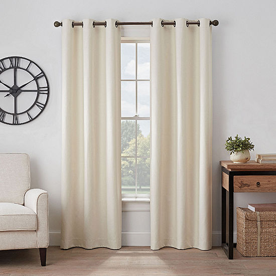 Eclipse Gabriella Energy Saving 100% Blackout Grommet-Top Single Curtain Panel
