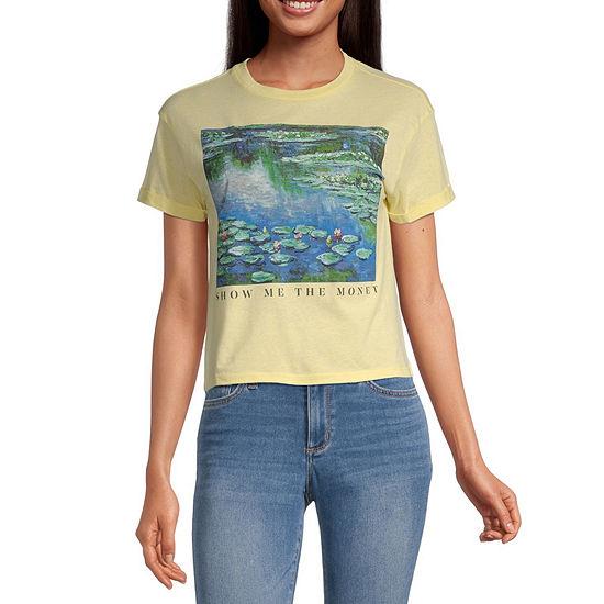Mighty Fine-Juniors 7.31 Womens Crew Neck Short Sleeve Graphic T-Shirt