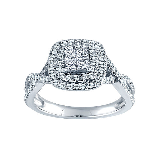 5/8 CT. T.W. 14K White Gold Diamond Engagement Ring