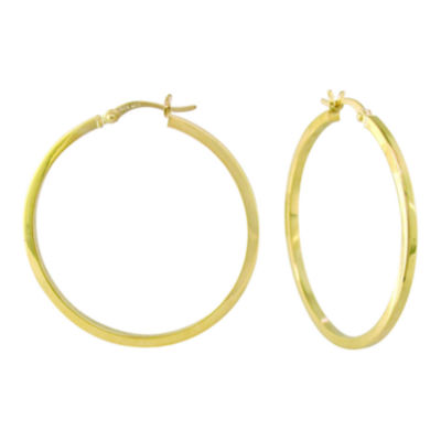 Large Square-Tubed Hoop Earrings